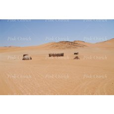 huts in namibia sands