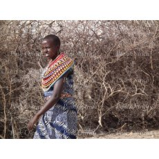 samburu lady walking