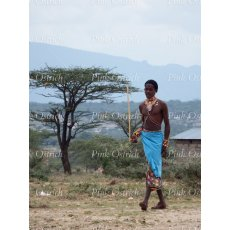 samburu man walking