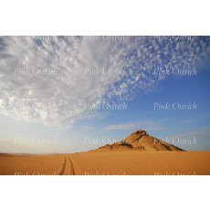 namibia track and clouds