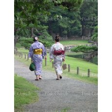 japanese women in park